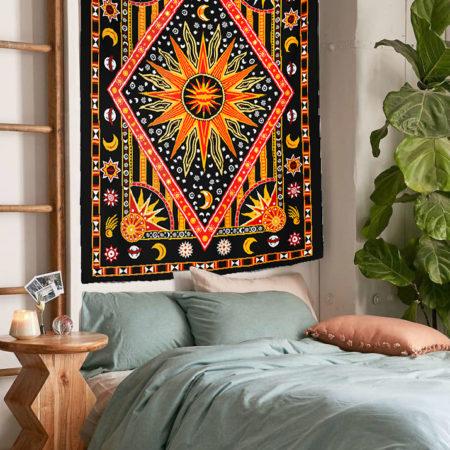 Turuncu Mandala Duvar Örtüsü