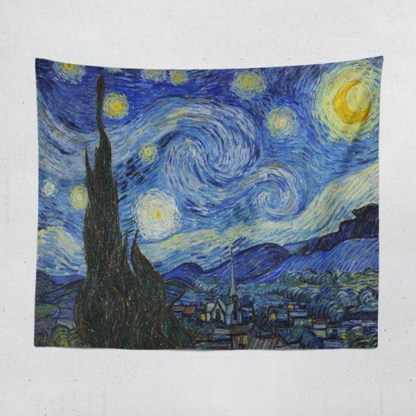 Yıldızlı Gece Duvar Örtüsü