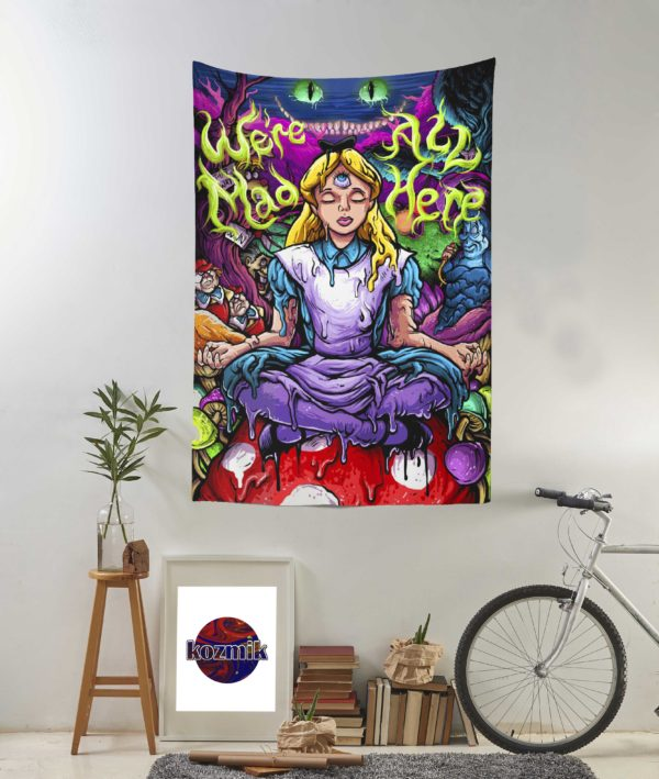 Psychedelic Alice Duvar Örtüsü