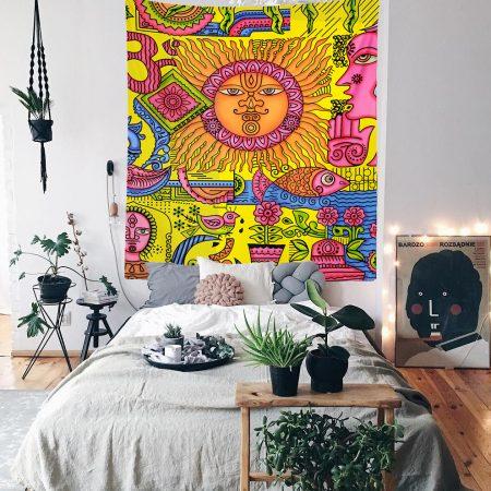 Hippie Bohem Duvar Örtüsü