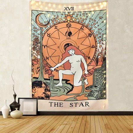 The Star - Tarot Kart Duvar Örtüsü