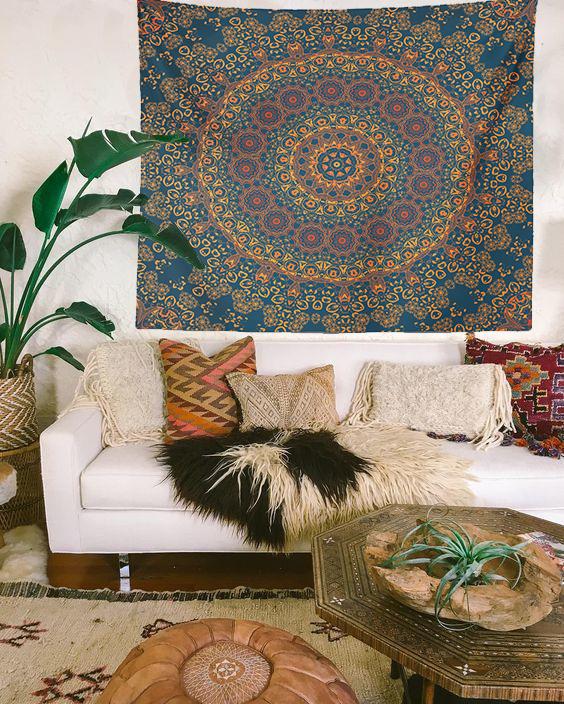 Trippy Mandala Duvar Örtüsü