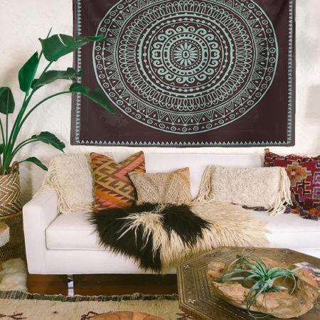 Bohem Aztec Mandala Duvar Örtüsü