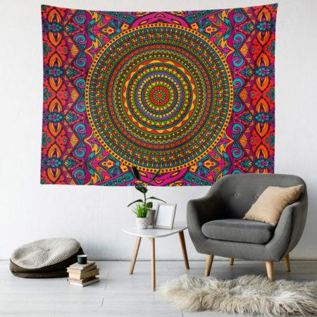 psychdelic mandala duvar örtüsü