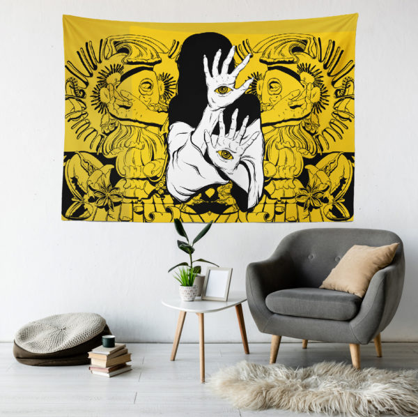 Psychedelic Eskiz Duvar Örtüsü