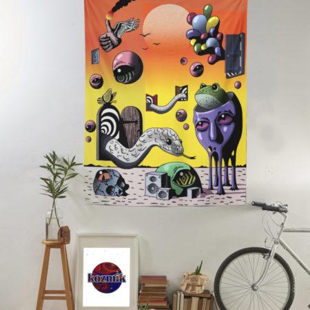 Psychedelic Trippy Duvar Örtüsü