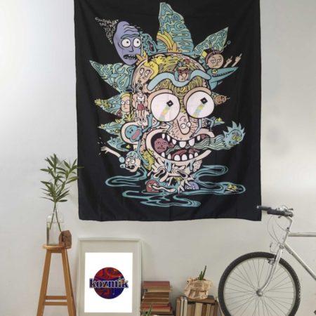 Rick and Morty duvar örtüsü