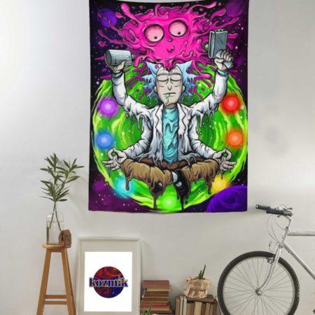 Psychedelic Rick and Morty Duvar Örtüsü