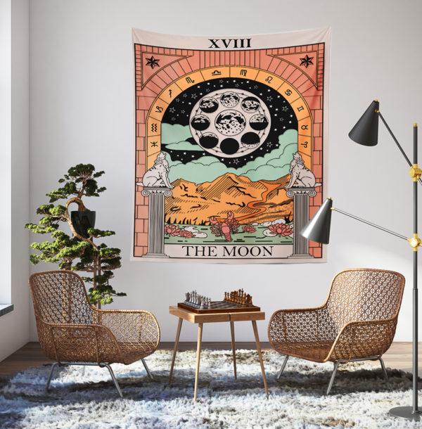 The Moon - Tarot Kart Duvar Örtüsü