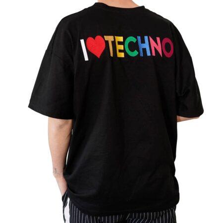 ı love techno tişört