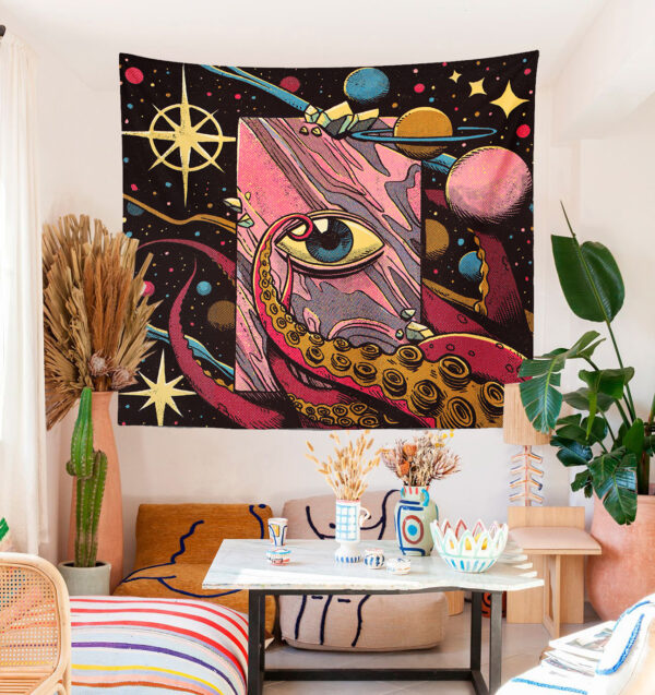 psychedelic eye duvar örtüsü